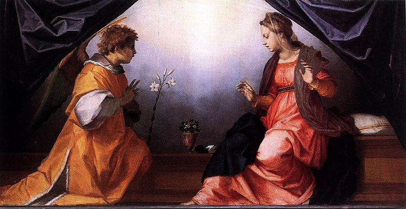 Andrea del Sarto Annunciation oil painting picture