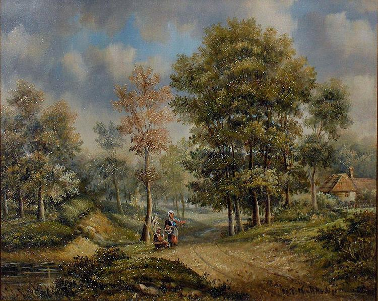 Barend Cornelis Koekkoek Walk in the woods