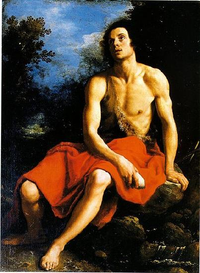 Cristofano Allori John the Baptist in the desert oil painting picture