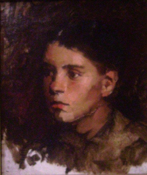Frank Duveneck Head of a Young Girl oil painting picture