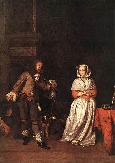 Gabriel Metsu The Hunter and a Woman oil painting picture