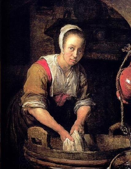 Gabriel Metsu Washerwoman oil painting picture