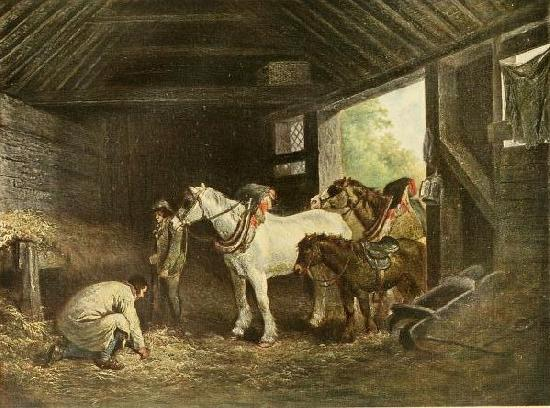 George Morland The inside of a stable oil painting picture