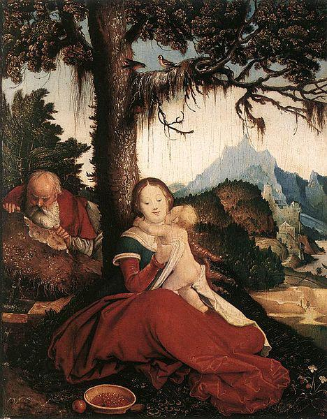 Hans Baldung Grien Rest on the Flight to Egypt oil painting picture