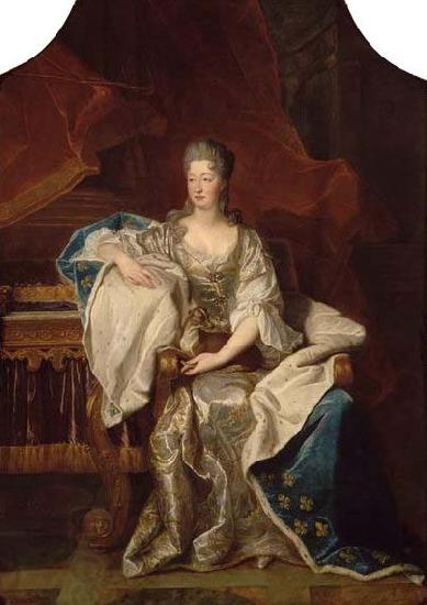 Hyacinthe Rigaud Full portrait of Marie Anne de Bourbon Dowager Princess of Conti