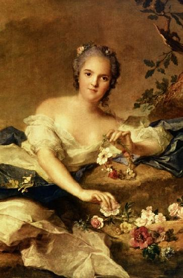 Jean Marc Nattier known as Madame Henriette represented as Flora in oil painting picture