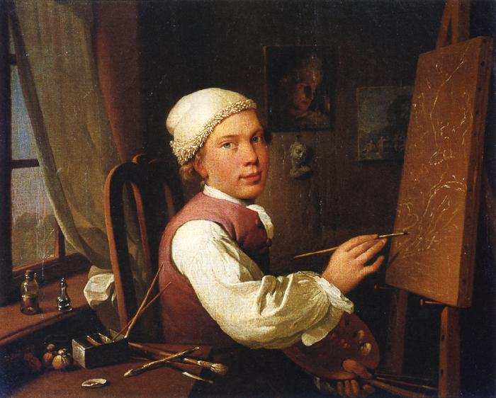 Jens Juel Self portrait oil painting picture