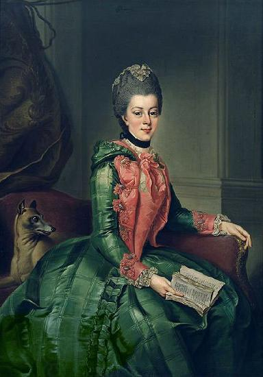 Johann Georg Ziesenis Portrait of Princess Frederika Sophia Wilhelmina oil painting picture