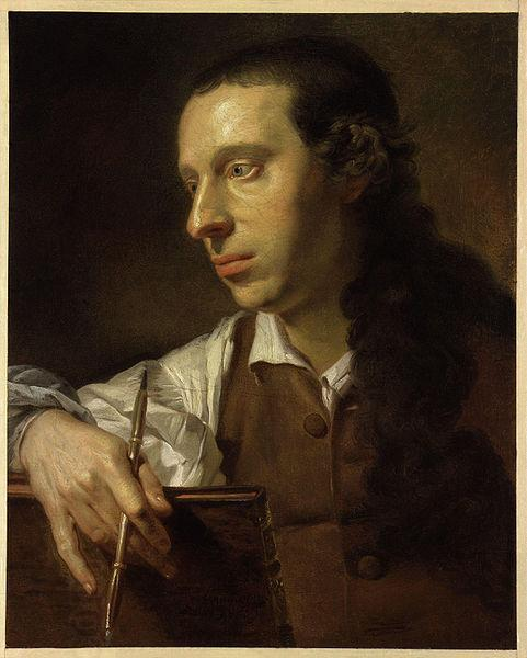Johann Zoffany Self portrait oil painting picture