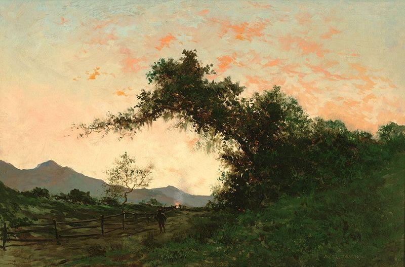Jules Tavernier Marin Sunset in Back of Petaluma by Jules Tavernier oil painting picture