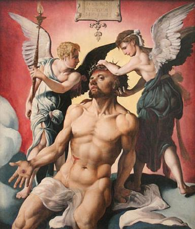 Maarten van Heemskerck The Man of Sorrows oil painting picture
