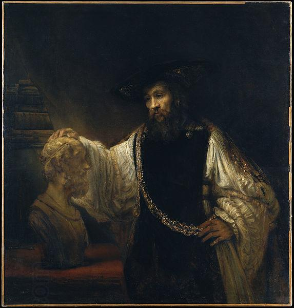 Rembrandt Peale Aristotle with a Bust of Homer oil painting picture