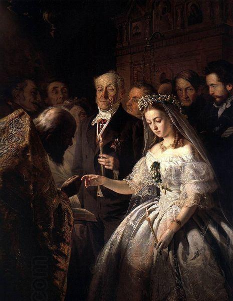 Vasiliy Pukirev The Arranged Marriage oil painting picture
