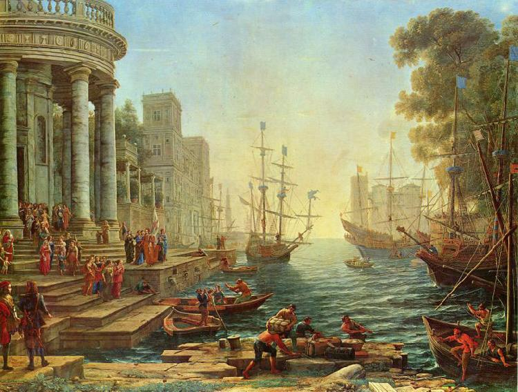 Claude Lorrain Seaport with the Embarkation of Saint Ursula oil painting picture