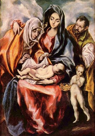 El Greco Hl. Familie oil painting picture