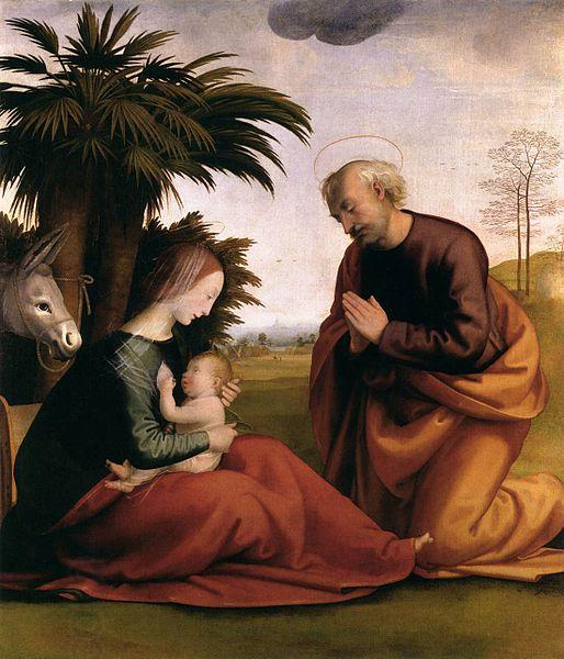 Fra Bartolomeo The Rest on The Flight into Egypt oil painting picture