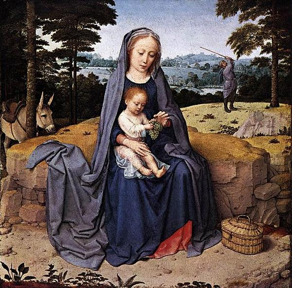 Gerard David The Rest on The Flight into Egypt oil painting picture