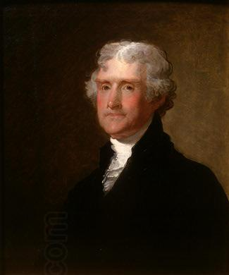 Gilbert Stuart Thomas Jefferson oil painting picture