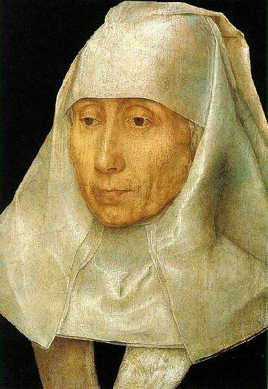 Hans Memling Portrait of an Old Woman oil painting picture
