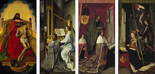 Hugo van der Goes The Trinity Altarpiece oil painting picture