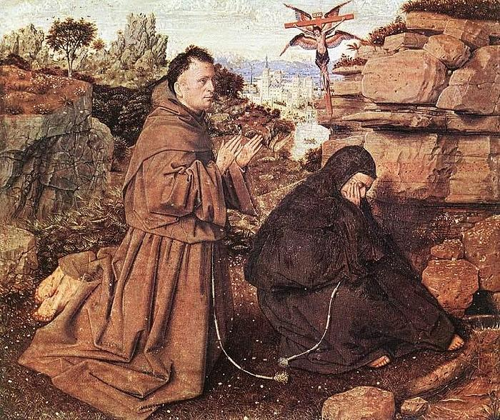 Jan Van Eyck Stigmatization of St Francis oil painting picture