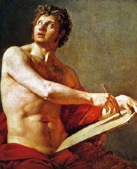 Jean Auguste Dominique Ingres Academic Study of a Male Torse. oil painting picture