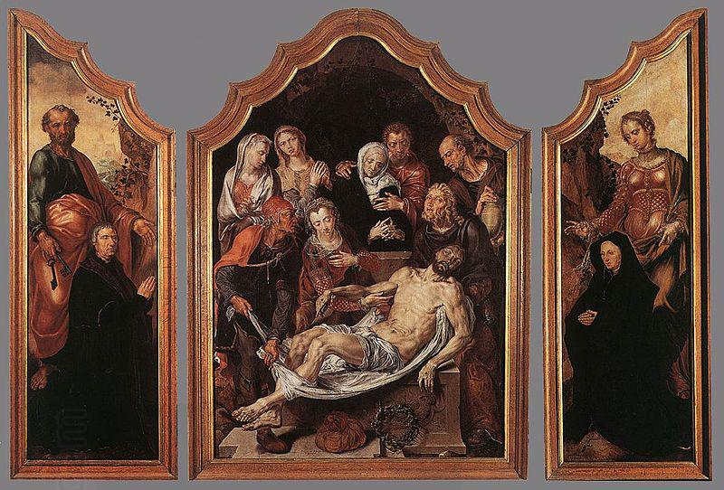 Maarten van Heemskerck Triptych of the Entombment oil painting picture