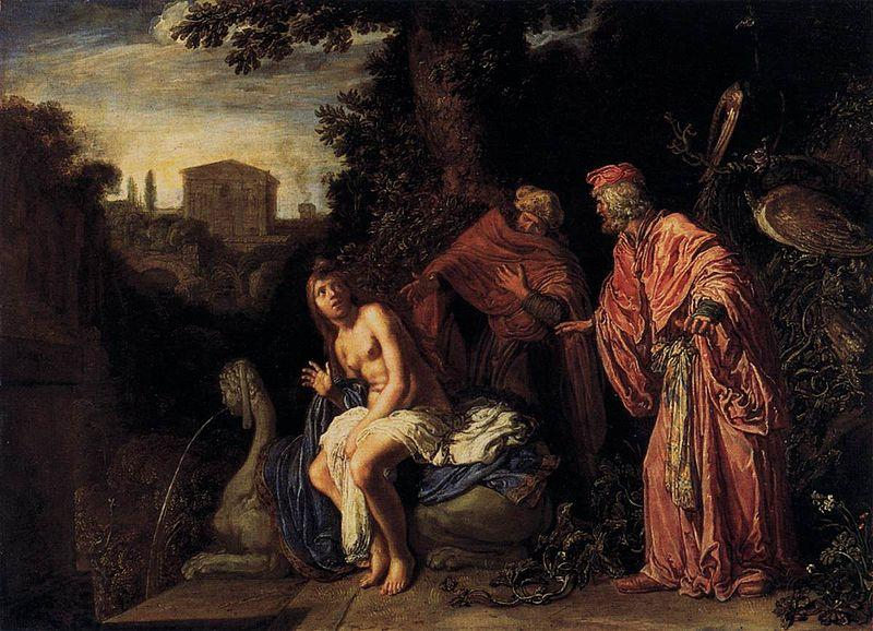 Pieter Lastman Susanna and the Elders oil painting picture