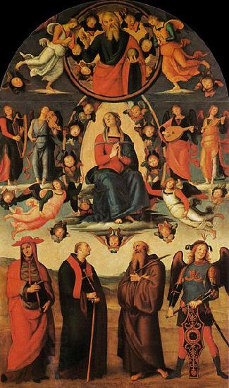 Pietro Perugino Assumption of the Virgin with Four Saints oil painting picture