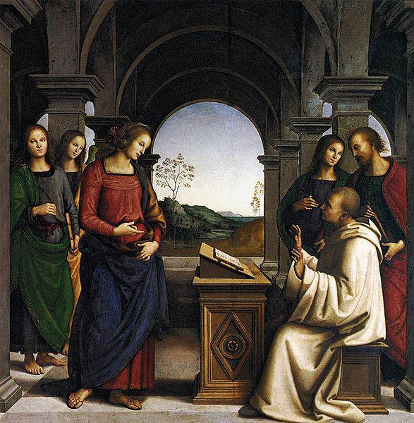 Pietro Perugino The Vision of St Bernard oil painting picture