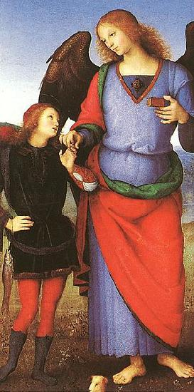 Pietro Perugino Tobias with the Angel Raphael oil painting picture