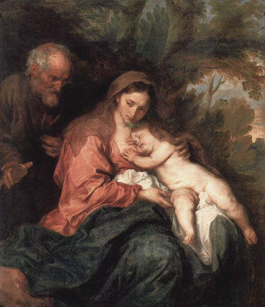 Anthony Van Dyck The Rest on The Flight into Egypt oil painting picture