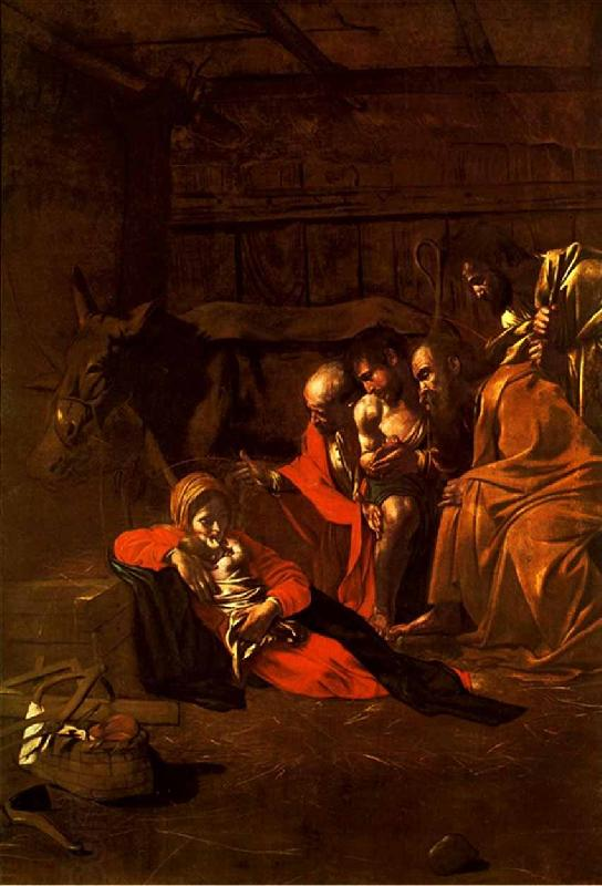 Caravaggio Adoration of the Shepherds oil painting picture
