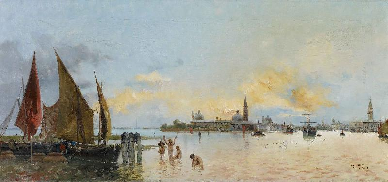 Carnicero, Antonio Vista de Venecia oil painting picture