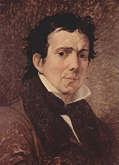 Francesco Hayez Portrat des Pompeo Marchesi.