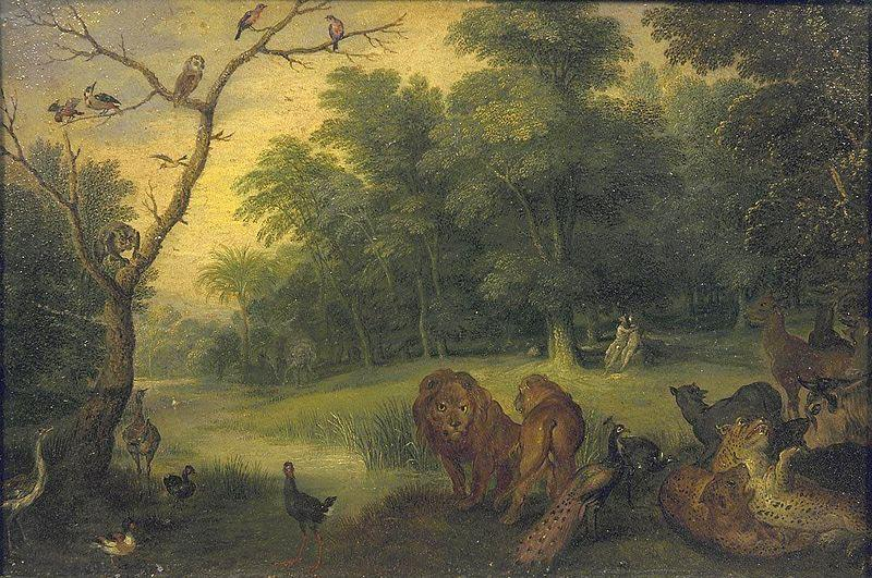 Jan Brueghel Paradise with the Fall of Adam and Eve oil painting picture