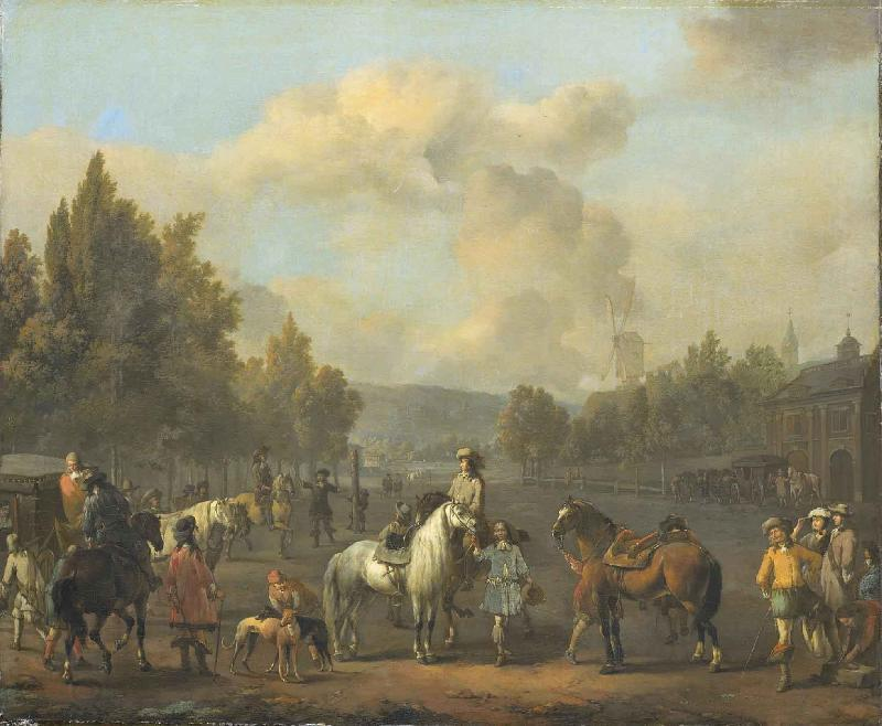 LINGELBACH, Johannes The riding school oil painting picture