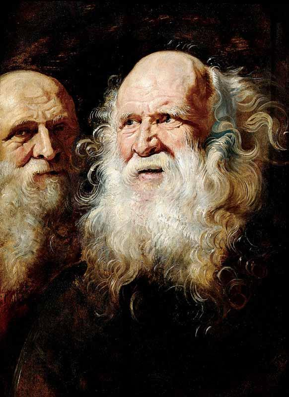 Peter Paul Rubens Study Heads of an Old Man