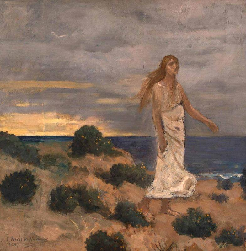 Pierre Puvis de Chavannes Woman on the Beach