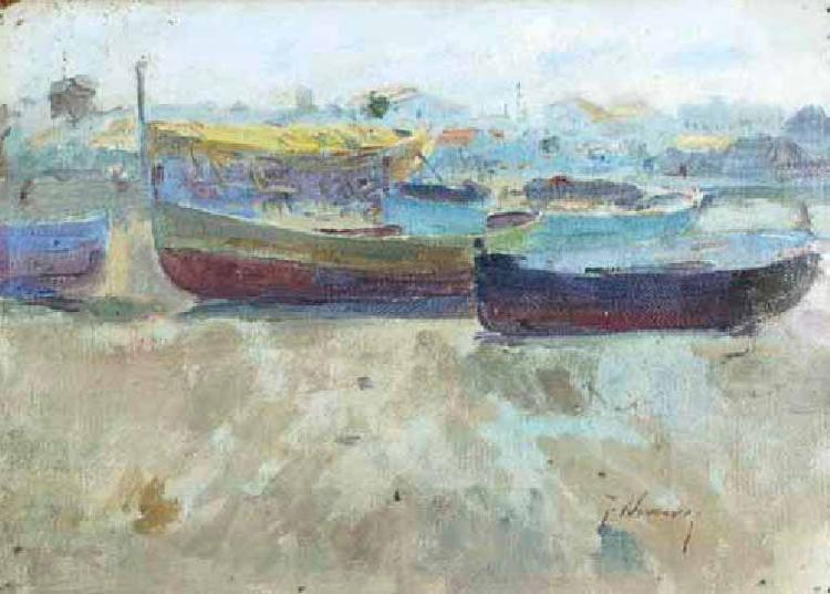 Seymour Joseph Guy Boats on the beach oil painting picture