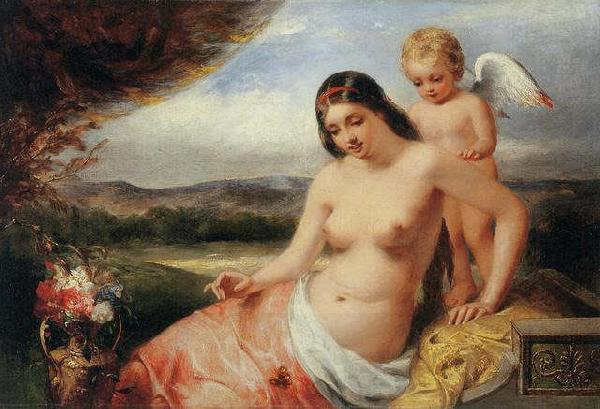William Edward frost R.A. Venus and Cupid oil painting picture