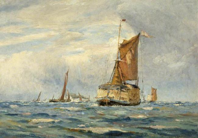 William Lionel Wyllie A Breezy Day on the Medway, Kent oil painting picture