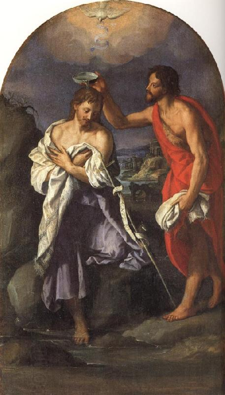 ALLORI Alessandro The Baptism of Christ