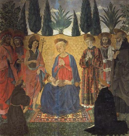 Alessio Baldovinetti Madonna and Child with Saints
