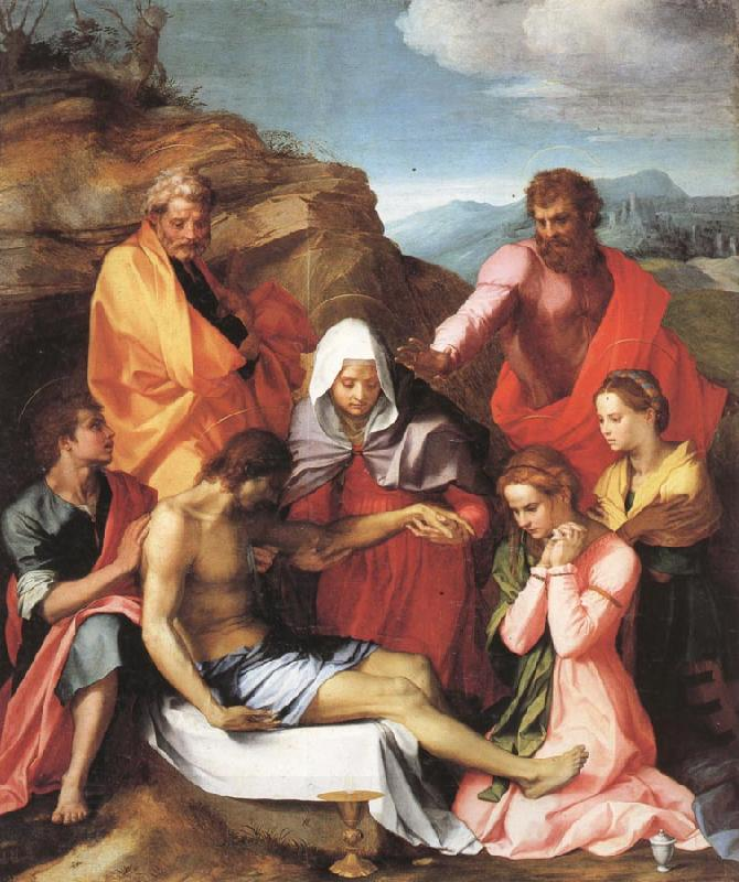Andrea del Sarto Pieta with Saints China oil painting art