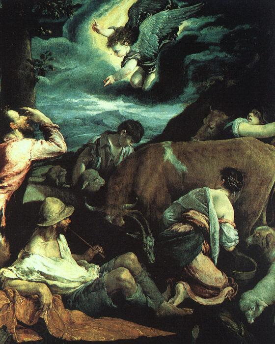BASSANO, Jacopo The Annunciation to the Shepherds
