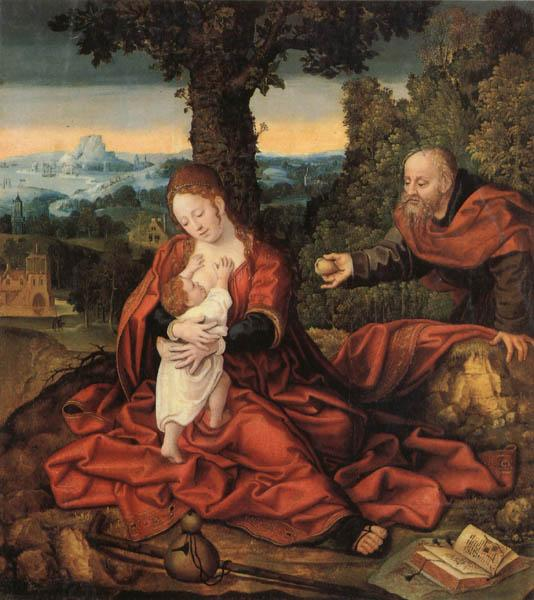 Barend van Orley Rest on the Flight into Egypt oil painting picture