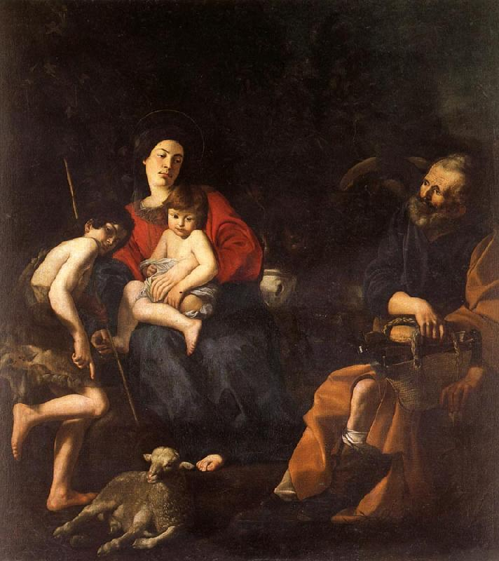 CARACCIOLO, Giovanni Battista The Rest on the Flight into Egypt oil painting picture