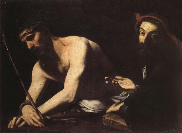 CARACCIOLO, Giovanni Battista Christ Before Caiaphas oil painting picture