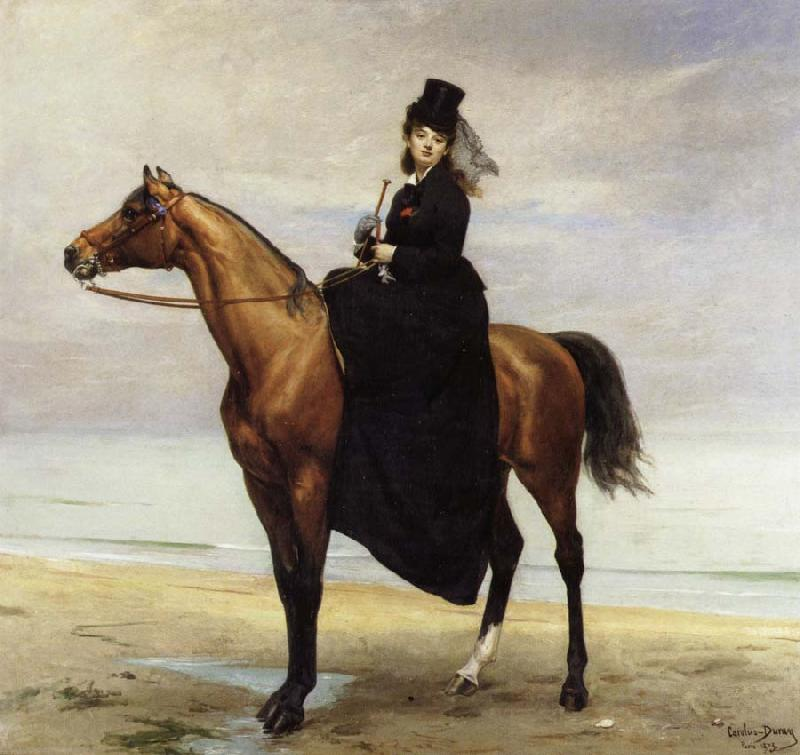 Carolus-Duran At the Seaside,Sophie Croizette on horseback oil painting picture